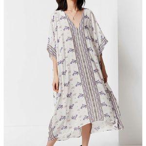 UO Oversized Boarder Print Maxi Dress
